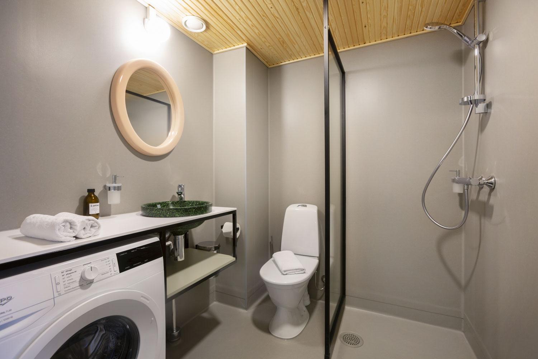 Lietsu Boutique Aparthotel Joensuu - Huoneistohotelli Joensuun keskustassa kylpyhuone