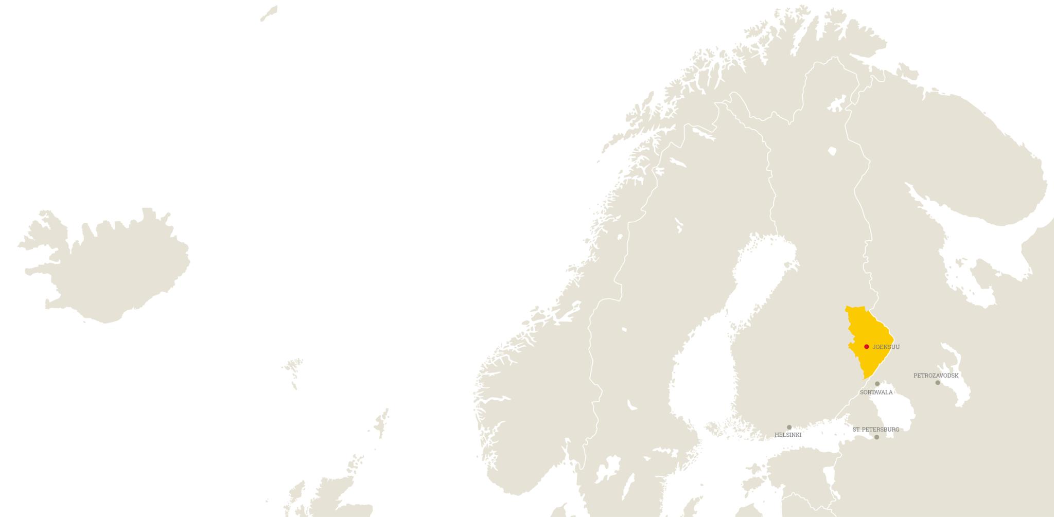 Lietsu Boutique Aparthotel Joensuu Finland sijainti keskusta kartta